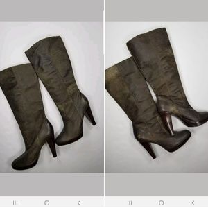 Frye Harlow Distressed Boots Sz 10M Leather Tall